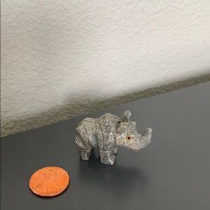 Hand Carved Soapstone Rhino